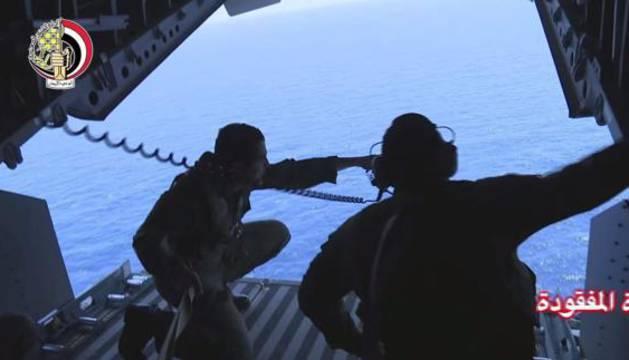 Operación de búsqueda del avión de Egyptair.
