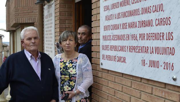Cárcar recuerda con un homenaje a más de 100 víctimas del franquismo