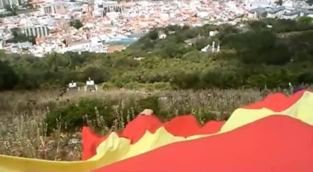 Bandera de España en Gibraltar