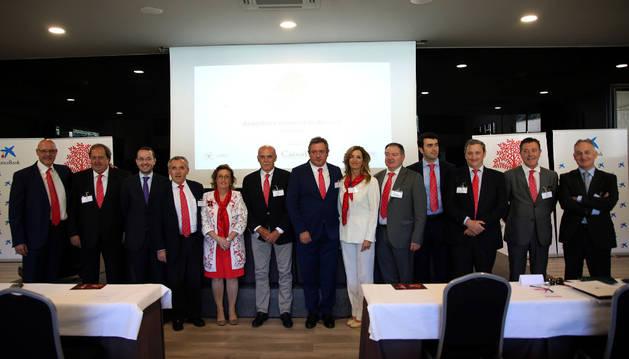 Representantes de empresas familiares en Navarra.