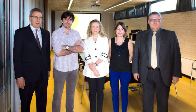 Martí Solà, Eneko Larrarte, Izaskun Goñi, Sofía Pardo y Emili Segura