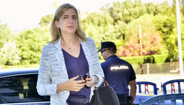 La infanta Cristina, a su llegada a la sede de la Escuela Balear de la Administración Pública (EBAP) de Palma.