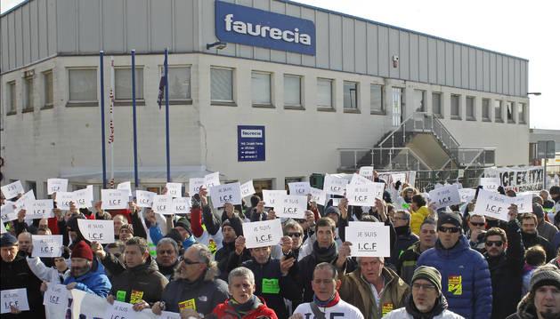 Movilizaciones contra el cierre de Faurecia