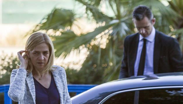 La infanta Cristina e Iñaki Urdangarin asisten al final del juicio de Nóos