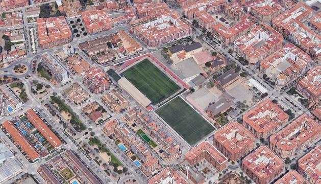Campos de fútbol de Torrente (Valencia), de donde es el detenido.