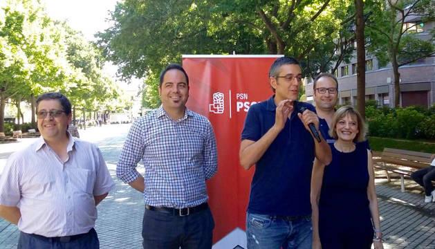 Madina, en un acto electoral en Pamplona