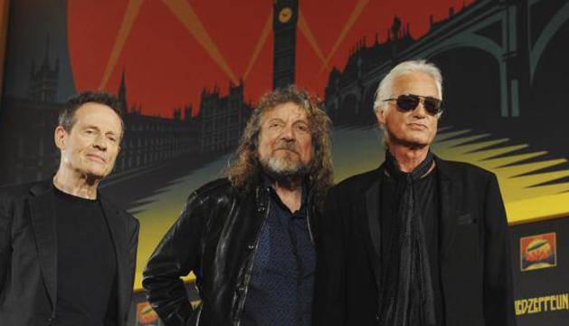Los miembros de la banda británica Led Zeppelin.
