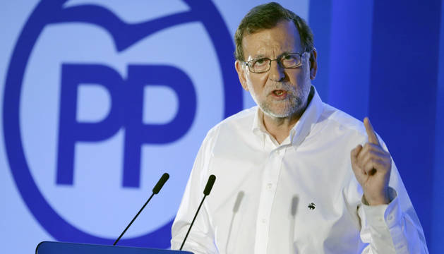 Mariano Rajoy, en su visita a Teruel.