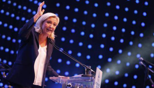 La presidenta del ultraderechista Frente Nacional (FN), Marine Le Pen.