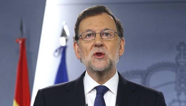 Rajoy pide tranquilidad a los españoles tras el 'Brexit'