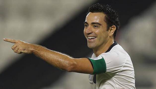 Xavi Hernández, durante un partido.