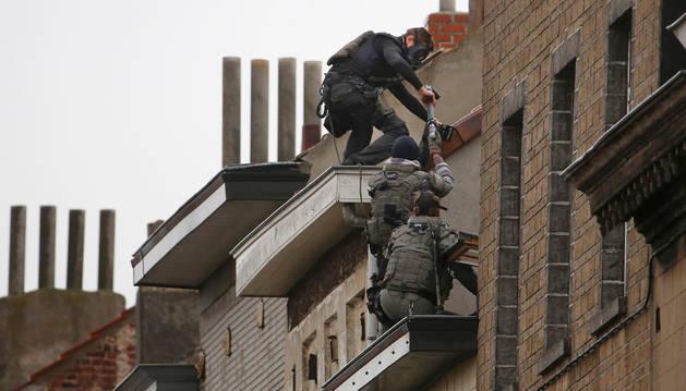 Operación antiterrorista en Bélgica.