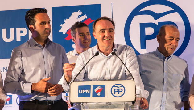 El presidente de UPN y portavoz en el Parlamento foral, Javier Esparza.