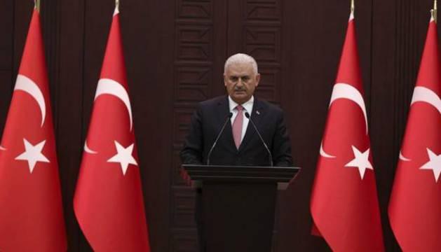 El primer ministro turco, Binali Yildirim.