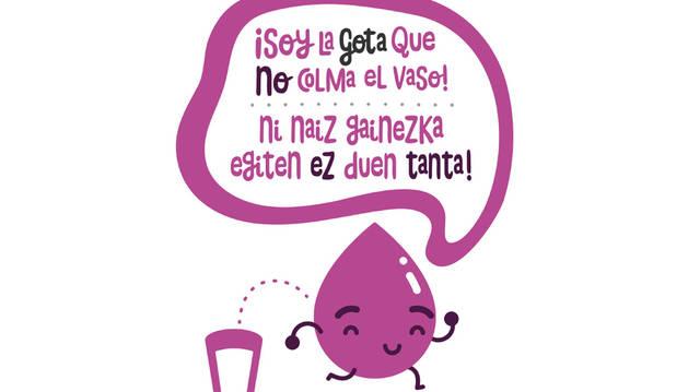 Imagen de la campaña 'La gota que NO colma el vaso'.