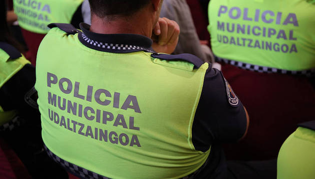 Agentes de la Policía Municipal de Pamplona.