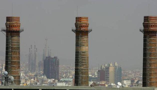 Vista de la contaminación en Barcelona.