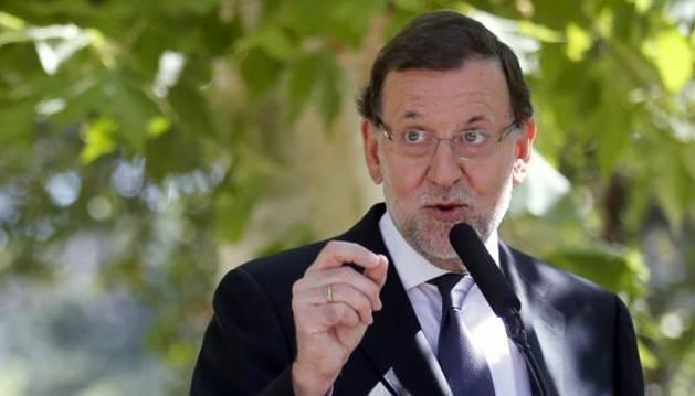 Mariano Rajoy, durante una comparecencia en Moncloa.