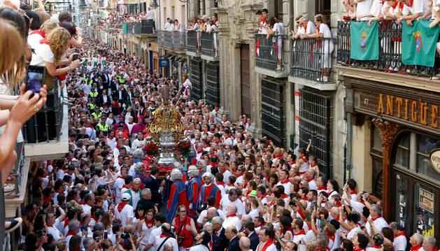 Procesión de San Fermín en Pamplona | Noticias de San Fermín en ...
