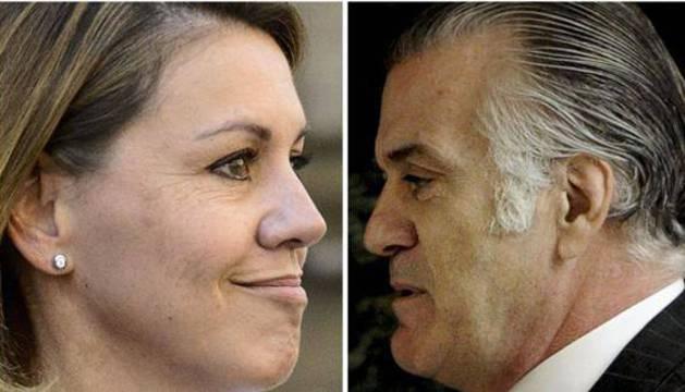 María Dolores de Cospedal y Luis Bárcenas.