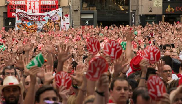 Concentración contra las agresiones sexistas celebrada el día 7 en la Plaza Consistorial.