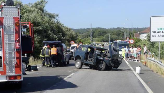 Accidente de tráfico en Pontevedra.