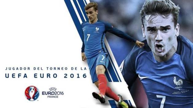 Griezmann, nombrado jugador de la Euro 2016