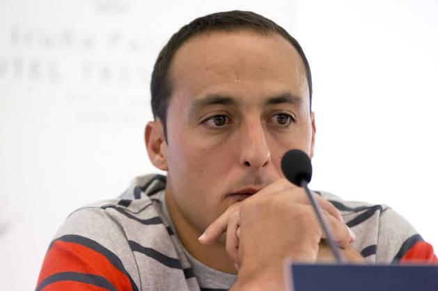 Juan Martínez de Irujo, durante el anuncio de su dolencia cardiaca.