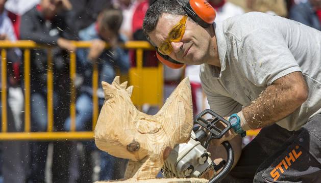 Mikel Lasarte durante su exhibición.