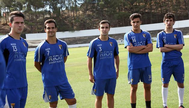 De izda. a dcha., Mendioroz, Íñigo Ros y Ander Gayoso.