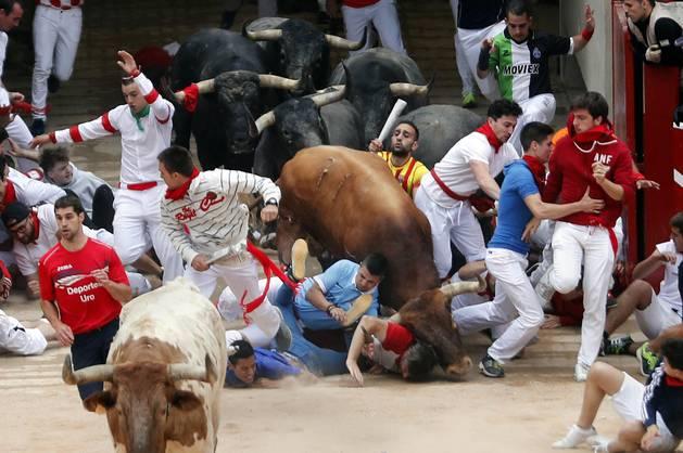 Imágenes exclusivas del octavo encierro de los fotógrafos de Diario de Navarra.