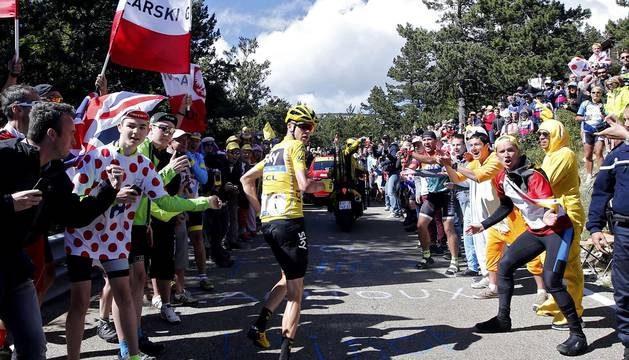 El incidente 'a la carrera' de Froome