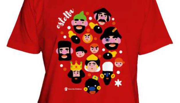 El cartel ganador de Estella se hace camiseta para ayudar a los niños
