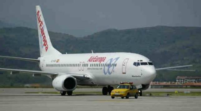 Avión de la compañía, Air Europa.