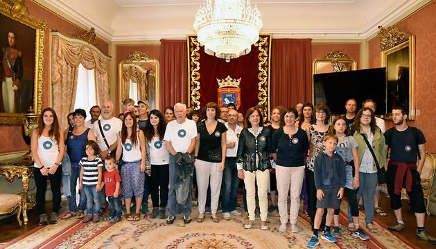 Un momento de la recepción a los integrantes de la 'Caravana a Grecia'.
