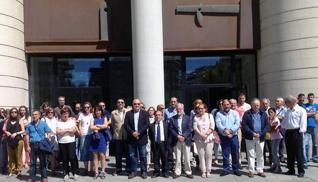 Concentración este viernes frente al Palacio de Justicia de Navarra.