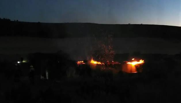 Declarado un incendio en Mañeru