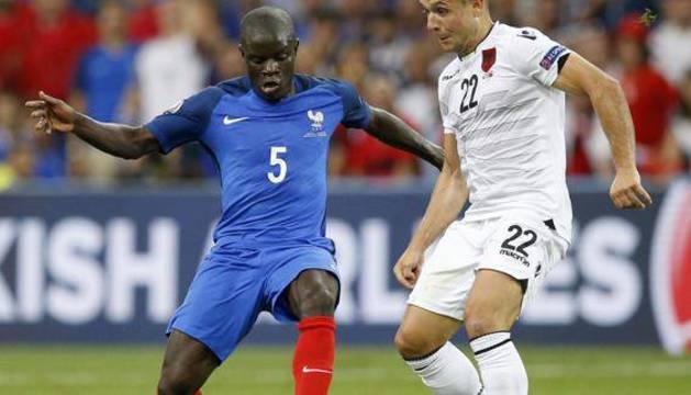 Kanté, durante un partido con su selección.