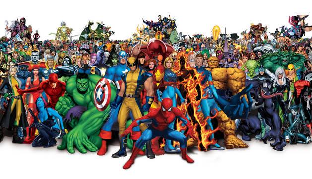 Imagen de varios personajes de cómic.