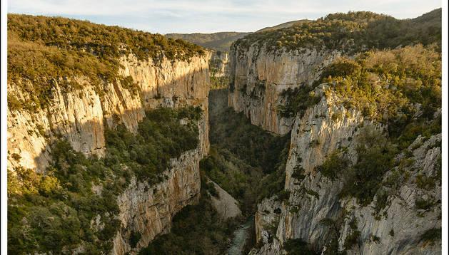 Vista del cañón desde el mirador de la Foz de Arbayún.