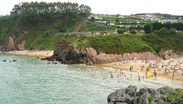 Playa asturiana donde se ha producido el suceso .