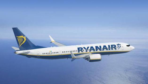 Un avión de la compañía 'low-cost' Ryanair.