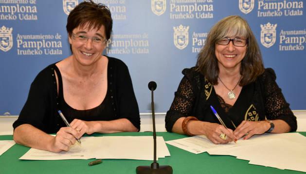 Pamplona y Cermin firman un convenio para la difusión de actividades y servicios