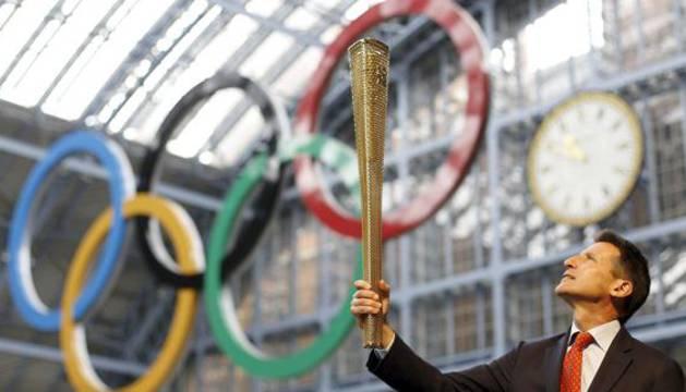 Acto ceremonial de los juegos olímpicos.