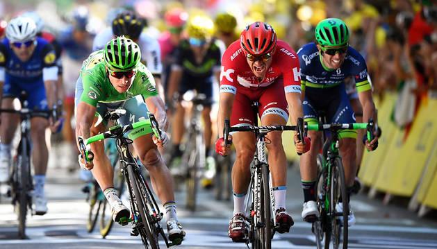 Tercera etapa para Sagan tras superar a Kristoff