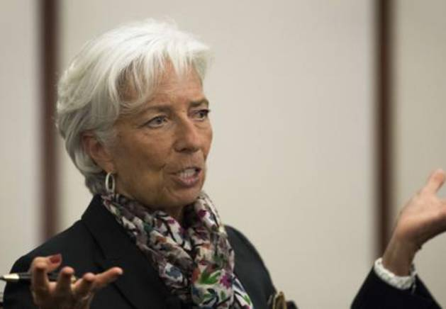 La directora gerente del FMI, Chrisine Lagarde.