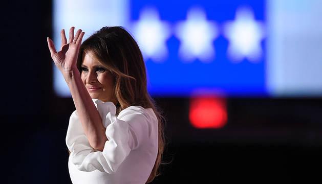 Melania Trump, durante su intervención ante la convención demócrata.