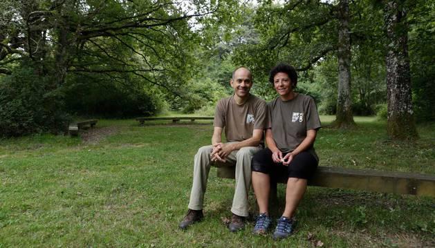Javier Gómez y Edurne Guerendiáin, trabajadores de Garrapo.