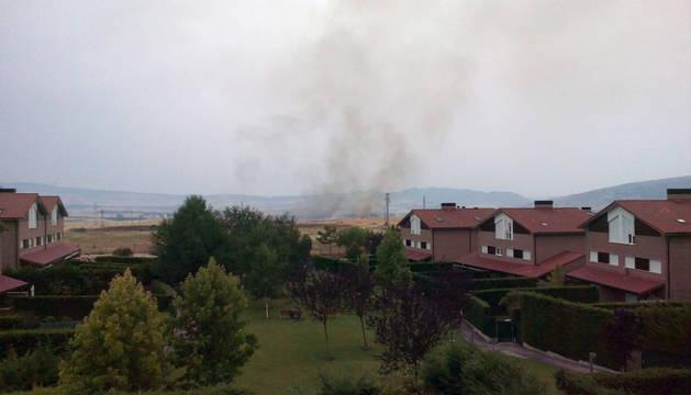 El fuego, visto desde Zuasti.
