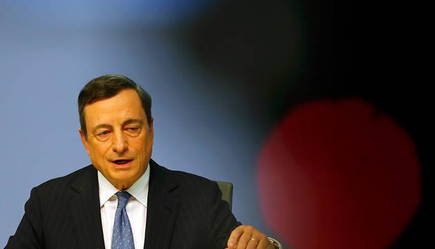 Mario Draghi, en la rueda de prensa de este jueves.